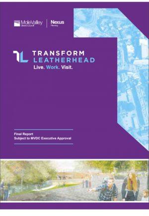 Cover of the Transform Leatherhead Masterplan.