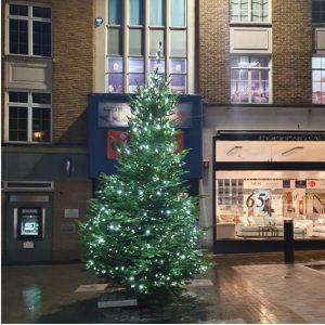 Church Street with Christmas tree 2019