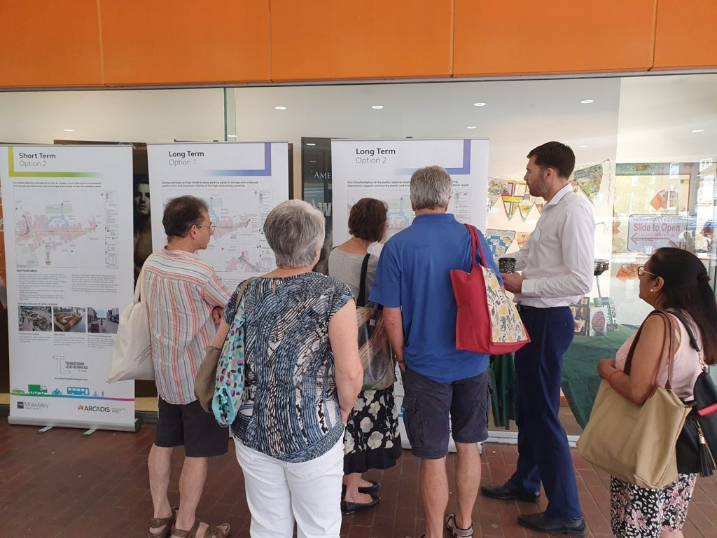 People taking part in the High Street consultation at the Swan Centre