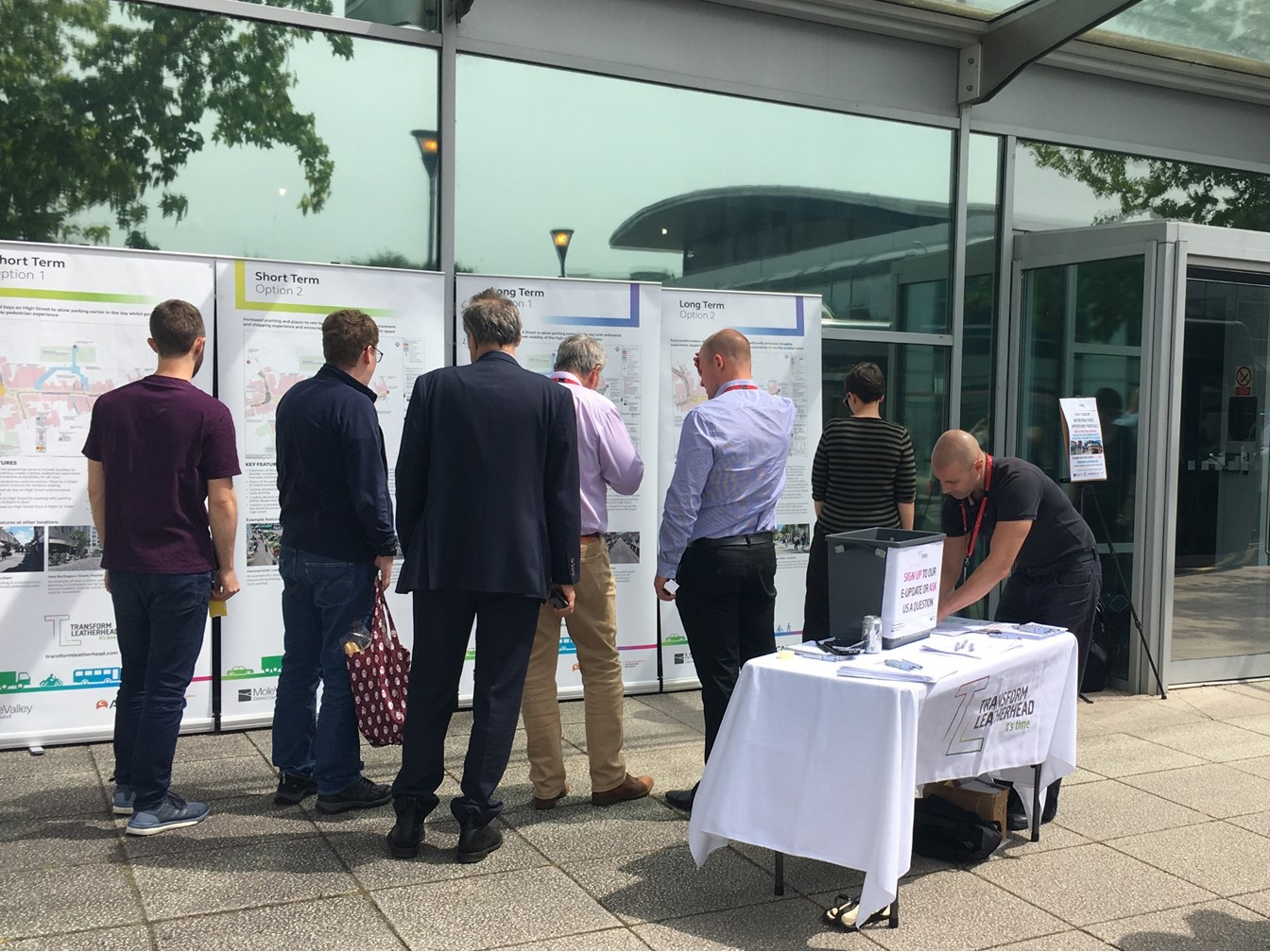 People taking part in the High Street consultation