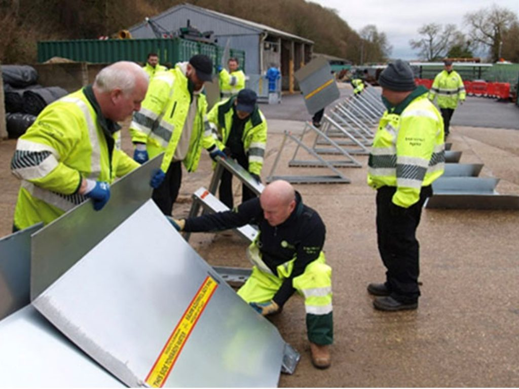 Environment Agency testing temporary flood defences