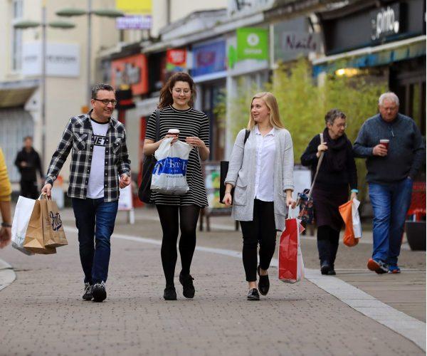 People on High Street