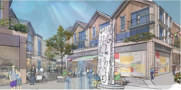 Artists impression of possible new look for hte Swan Centre redevelopment. the image is also a link to more information.