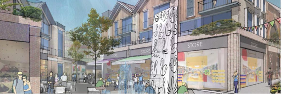 Artists impression of potetnial new look for the Swan Centre